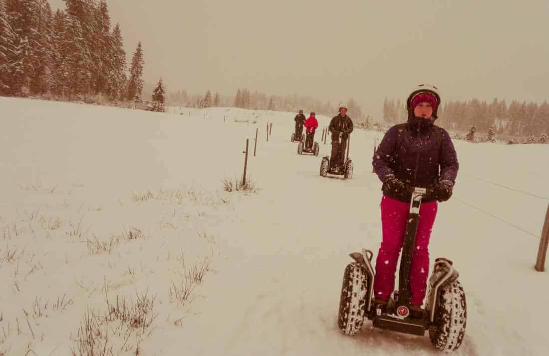 Winterspaß mit dem Gelände Segway in Westendorf Tirol
