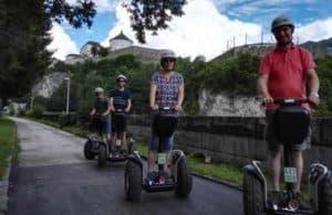 Familie in Kufstein bei Schnupper Segway Tour
