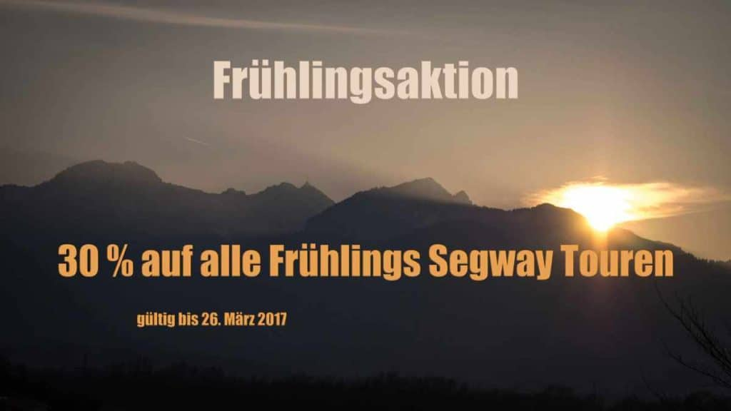 Sonnenuntergang am Wendelstein - Frühlings Segway Aktion