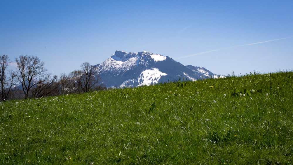 Berge mit Schnee in Fischbachau