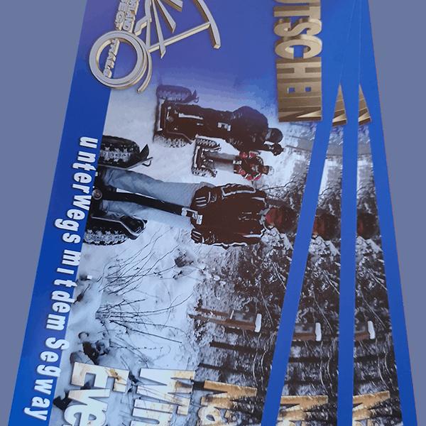 Blauer Gutschein für Segway Winter Tour