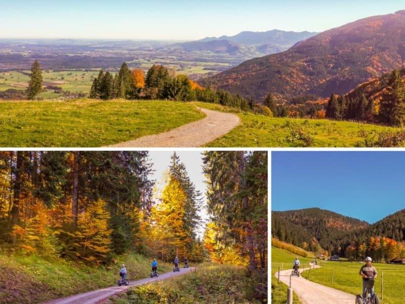Weitblick im Herbst in die Berge