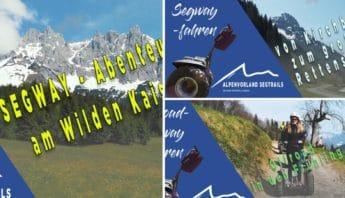 Verschiedene in blauer Farbe Titelbilder von Segway Filmen auf Youtube
